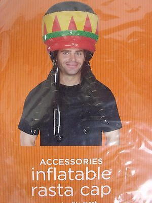 Accessories Inflatable Rasta Cap Adult One Size  Osfm Accessory New