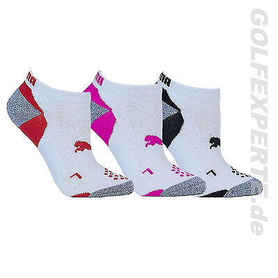 Puma Golf Damen Socken Pounce Low Cut 3 Pair Dreierpack White Weiß