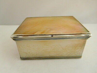 Fantastic 18Th Century Solid Silver And Mother Of Pearl Sewing Box / Casket