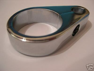 """Chrome clutch cable clamp fits 1"""" Tubing for Harley-Davidson Handlebars 516965"""