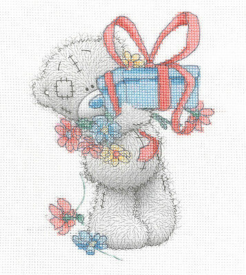 "DMC Me To You Printed Cross Stitch Kit  ""Gift"""