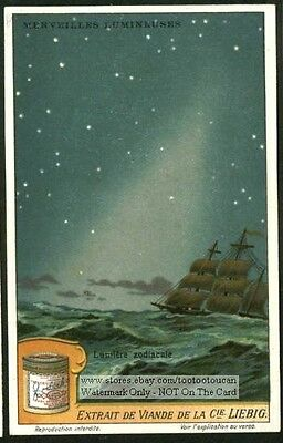The  Zodiacale Light Band Astronomy Cassini c1915 Trade Ad Card
