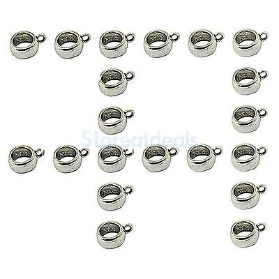 20Pcs Silver Bail Hanger Dangle Large Beads 8mm Jewelry Craft DIY Findings