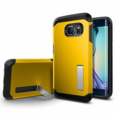 Tough Hard Back Ultra Slim Hybrid Case Cover For Samsung Galaxy S6 Yellow 03