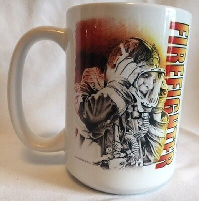 New Firefighter with Dick Kramer Graphic 15 ounce Ceramic Mug Coffee Cup