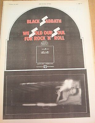 BLACK SABBATH Save Our Souls (red) 1976 UK Poster size Press ADVERT 16x12 inches