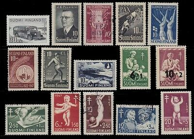 1947 Finland Year + Red Cross +Tuberculosis Sct. 263 -269 , B80 To B86