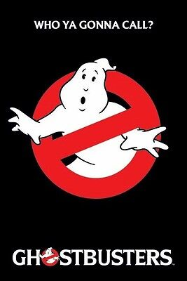 GHOSTBUSTERS ~ NO GHOST LOGO 24x36 MOVIE POSTER Busters Who Ya Gonna Call