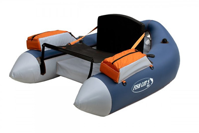 Outcast Fish Cat 5 Max Float Tube, Gray/Orange - Free Shipping in USA