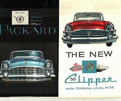 1956 PACKARD and CLIPPER DELUXE COLOR SALES BROCHURE
