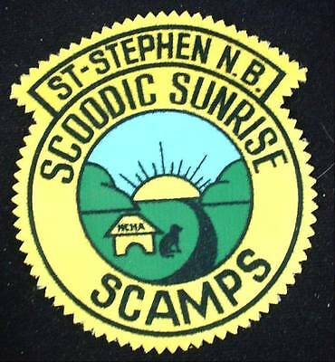 Vintage Patch ST STEPHEN NEW BRUNSWICK SCOODIC SUNRISE SCAMPS NCHA