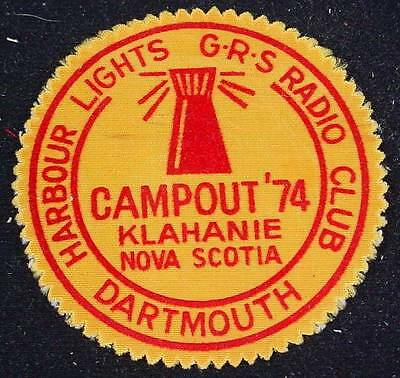 Vintage Jacket Patch Dartmouth Harbor Lights G-R-S- Radio Club Klahanie Campout