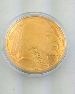 2011 Buffalo/Indian Head 24K Gold Plated Coin Proof Copy