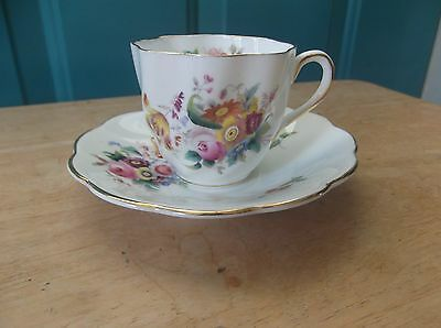 """Vintage Coalport """"Junetime"""" Bone China Small Cup and Saucer"""