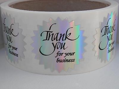 "Thank You For Your Business Label 1 1/2"" Starburst Holographic  Prism 250/rl"