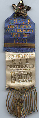 Gar ** 1891 Portsmouth ** Stover Post ** Frigate Constitution Coloniel Party