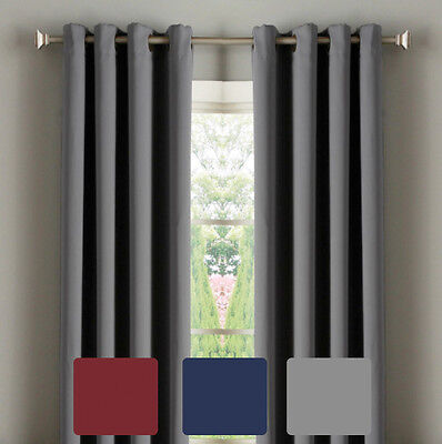 Thermal Eyelet Insulated Curtain Panel Room Darkening Blockout Blackout