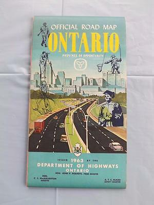 Official Road Map Ontario Province Of Opportunity 1963 Department Highways