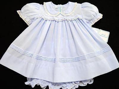 Hand~Embroidered Nb/3M  2Pc Batiste Dress W/fagoting & French Lace~Nwt's
