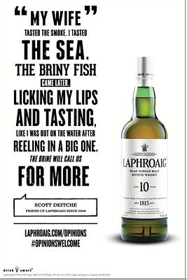 "Laphroaig ""licking My Lips"" Poster 18 By 26"