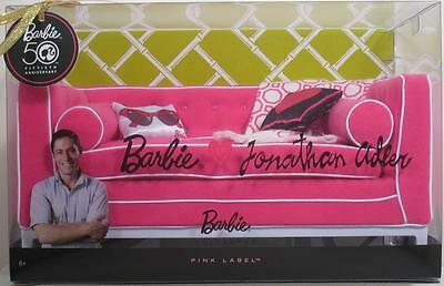 Barbie Collector JONATHAN ADLER HAPPY CHIC SET SOFA Couch Room Pack 50th Ann NEW