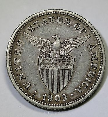 Phillippines - 1903.S 20 Centavos - Silver Coin
