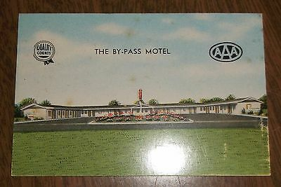 Vintage Business Card - The By-Pass Motel Bowling Green Kentucky - AAA