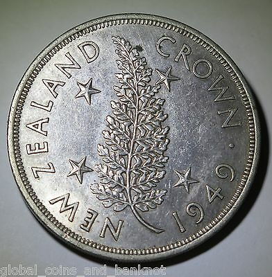 New Zealand - 1949 Crown King George VI - Silver Coin