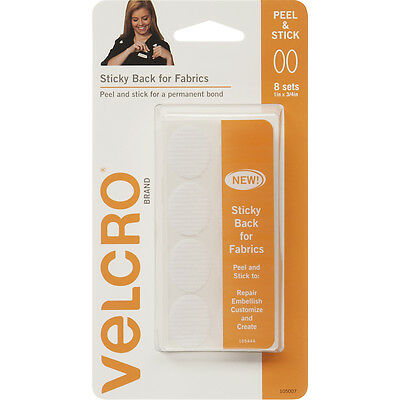 """""""VELCRO(R) Brand STICKY BACK For Fabric Ovals 1""""""""X.75""""""""-White, 91873"""""""