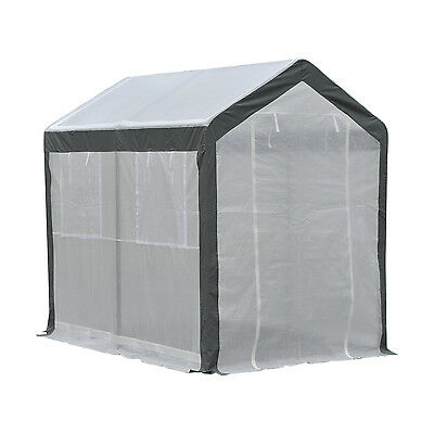 Outsunny 6'x8'x7.4' Heavy-duty Walk-in Greenhouse Outdoor Vegetable Plants House