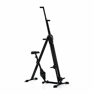 2-in-1 Adjustable Vertical Climber and Exercise Bicycle Home Cardio Stepper