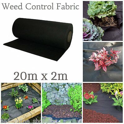 Large Heavy Duty Weed Control Woven Fabric Ground Cover Mulch Membrane Mat 50gm