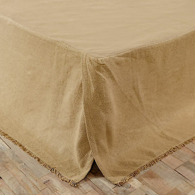 Burlap Country King Queen Twin Bed Skirt