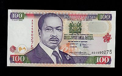 KENYA  100  SHILLINGS 2000  AS  PICK # 37e  UNC-.  BANKNOTE.