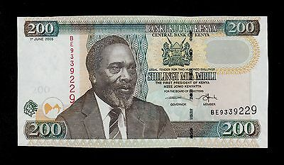 KENYA  200 SHILLINGS 2005  BE  PICK # 43c  UNC-. BANKNOTE.
