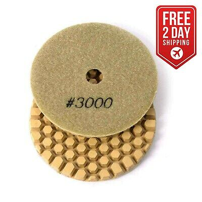 "Specialty Diamond BRTD43000 4"" Dry Concrete Polishing DHEX Pad, 6mm - 3000 Grit"