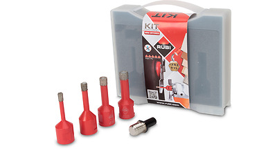 Rubi Dry Diamond Tile Drill Bit Kit 4x Diamond Bits (6-12mm)