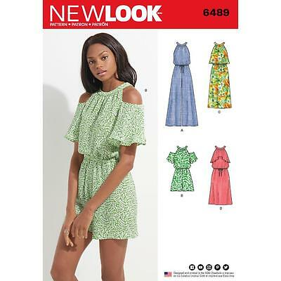 NEW LOOK SEWING PATTERN MISSES' Jumpsuit Romper & Dress SIZE 8 - 18 6489