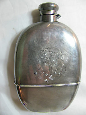 ANTIQUE STERLING SILVER FLASK by GORHAM 1907 HALLMARK