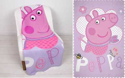 EXTRA LARGE - Super Soft Peppa Pig Fleece Blanket Kids Snuggle Throw Girls Gift
