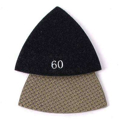 60 Grit Electroplated Diamond Triangular Polishing Pad For Oscillating Tools