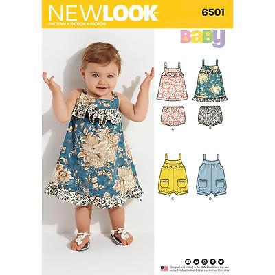 NEW LOOK SEWING PATTERN MISSES\' Babies\' Dress & Romper SIZE NB ...