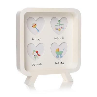 My 1st Year Step Smile Tooth Toy Baby Girl Boy Multi Photo Heart Frame Gift 58