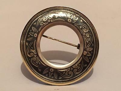 Vintage Antique Russian 925 .ic4 Sterling Silver Gold Brooch Pin Hammer Sickle