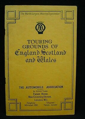 Touring Grounds of England Scotland and Wales Automobile Association Booklet '38