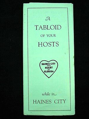 TABLOID OF HOSTS WHILE IN HAINES CITY Florida Stay Eat Advertising 1930's