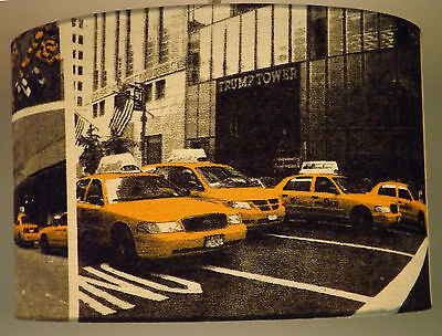 New York City Yellow Cab Drum/ Cylinder Lampshade Ceiling Light/ Pendant/ Table