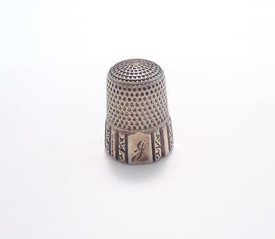 Vintage Sterling Silver #8 Lettered Thimble ~ 5 grams ~ 7-B321