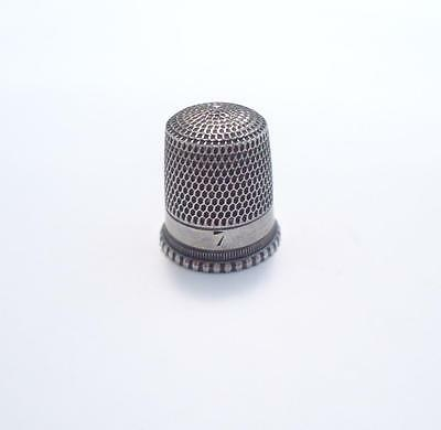 Sterling Silver Vintage #7 Thimble ~ 2.3 grams ~ 7-B325