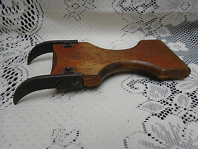Antique Furniture Upholstery Tool Webbing Stretcher Steel Claw Steampunk Beauty